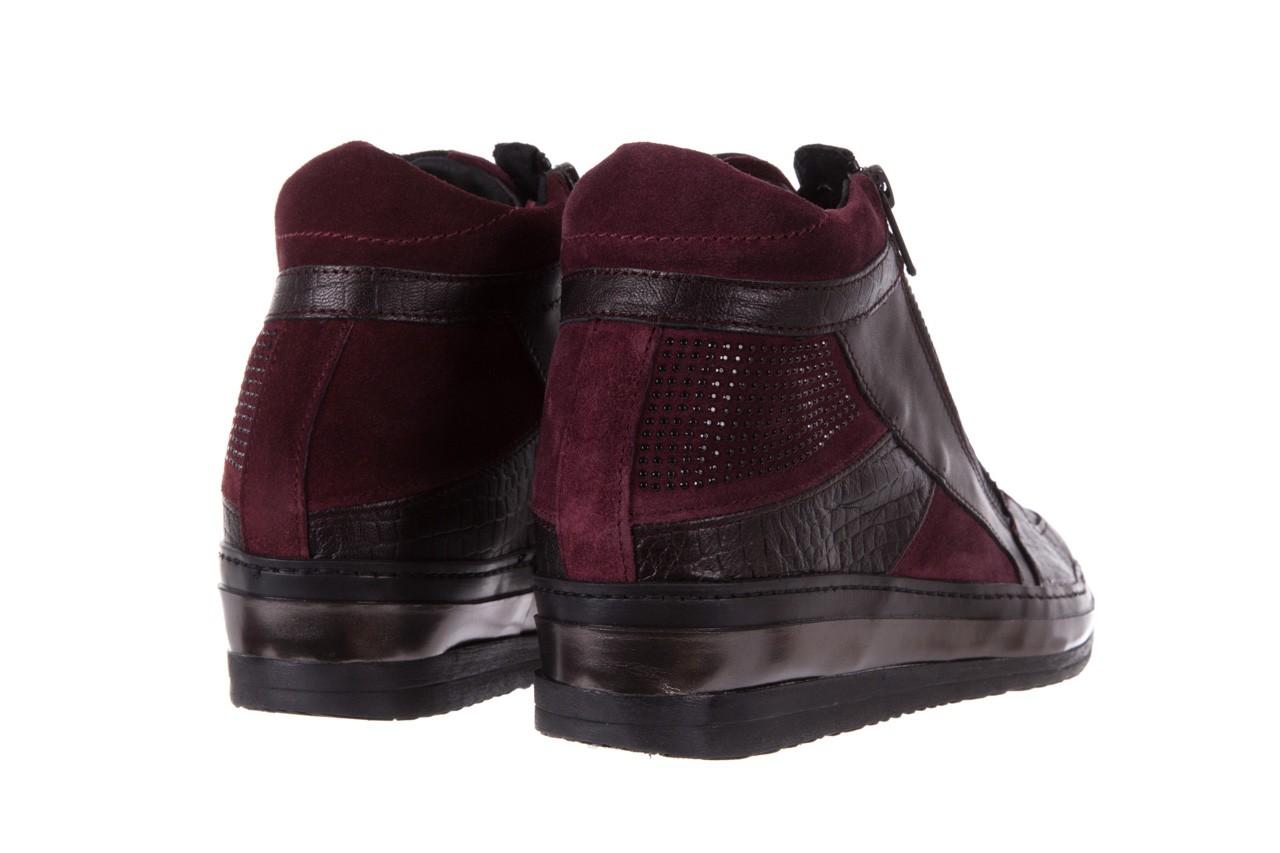 Sneakersy bayla-131 4011 bordeaux, skóra naturalna  - obuwie sportowe - dla niej - dodatkowe -10% 9