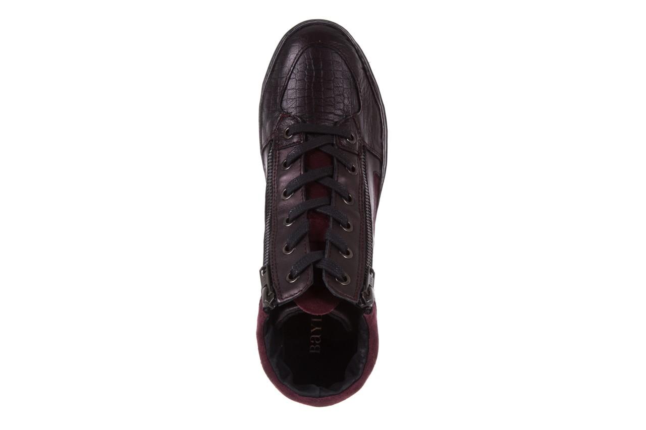 Sneakersy bayla-131 4011 bordeaux, skóra naturalna  - obuwie sportowe - dla niej - dodatkowe -10% 10