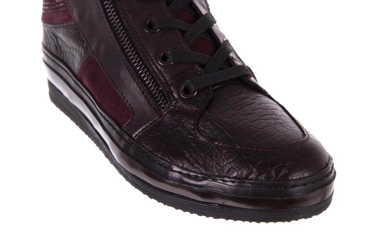 Sneakersy bayla-131 4011 bordeaux, skóra naturalna  - obuwie sportowe - dla niej - dodatkowe -10% 11