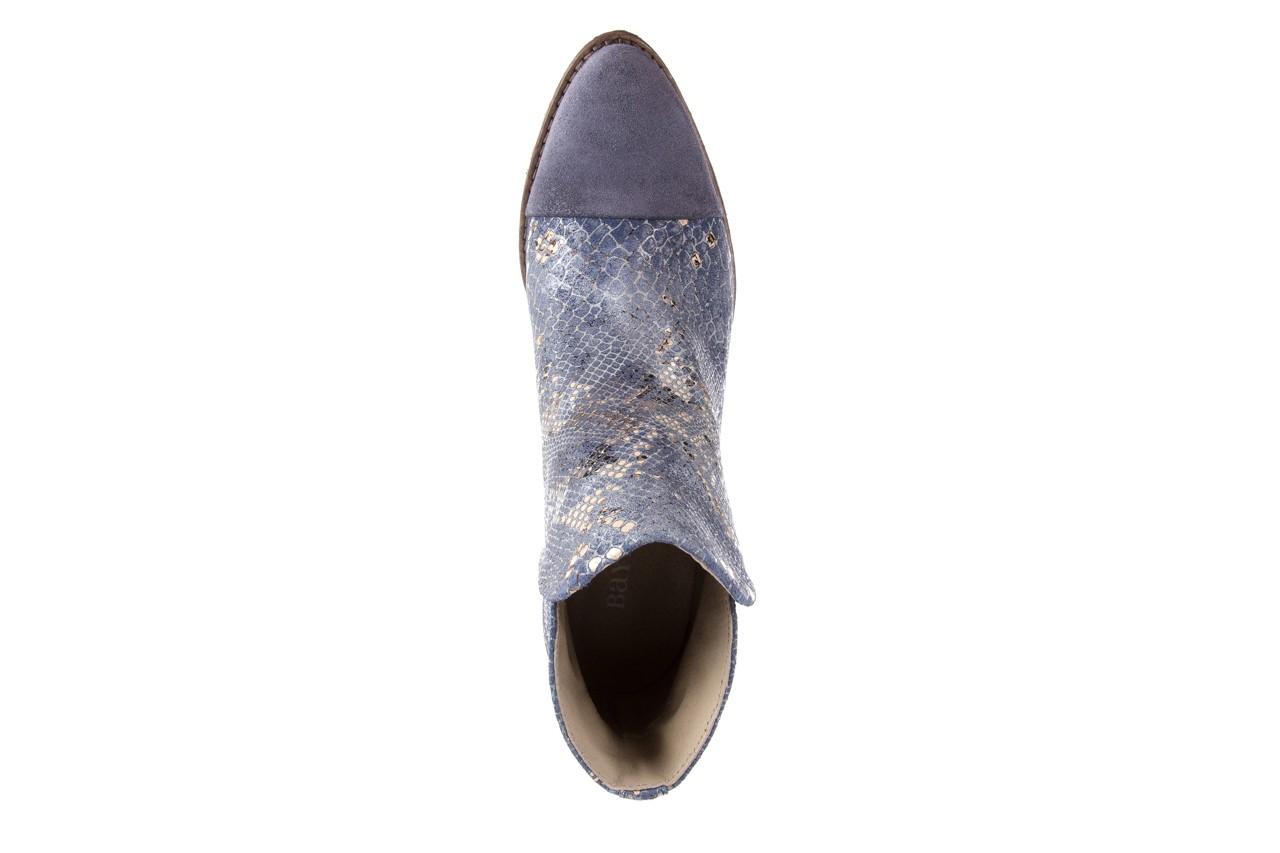Botki bayla-131 4604 jeans, niebieski, skóra naturalna - bayla - nasze marki 10