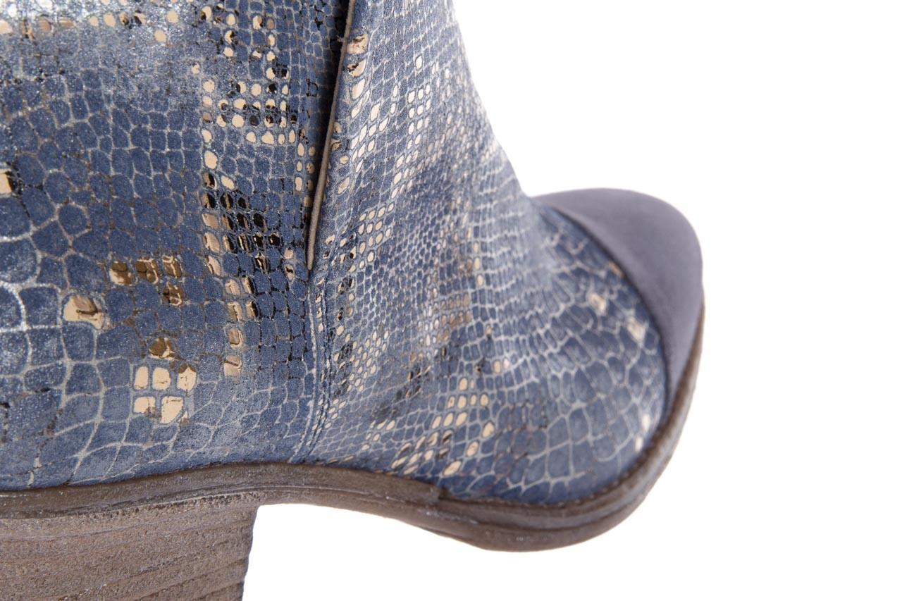 Botki bayla-131 4604 jeans, niebieski, skóra naturalna - bayla - nasze marki 11