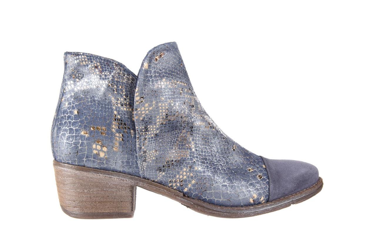 Botki bayla-131 4604 jeans, niebieski, skóra naturalna - bayla - nasze marki 6