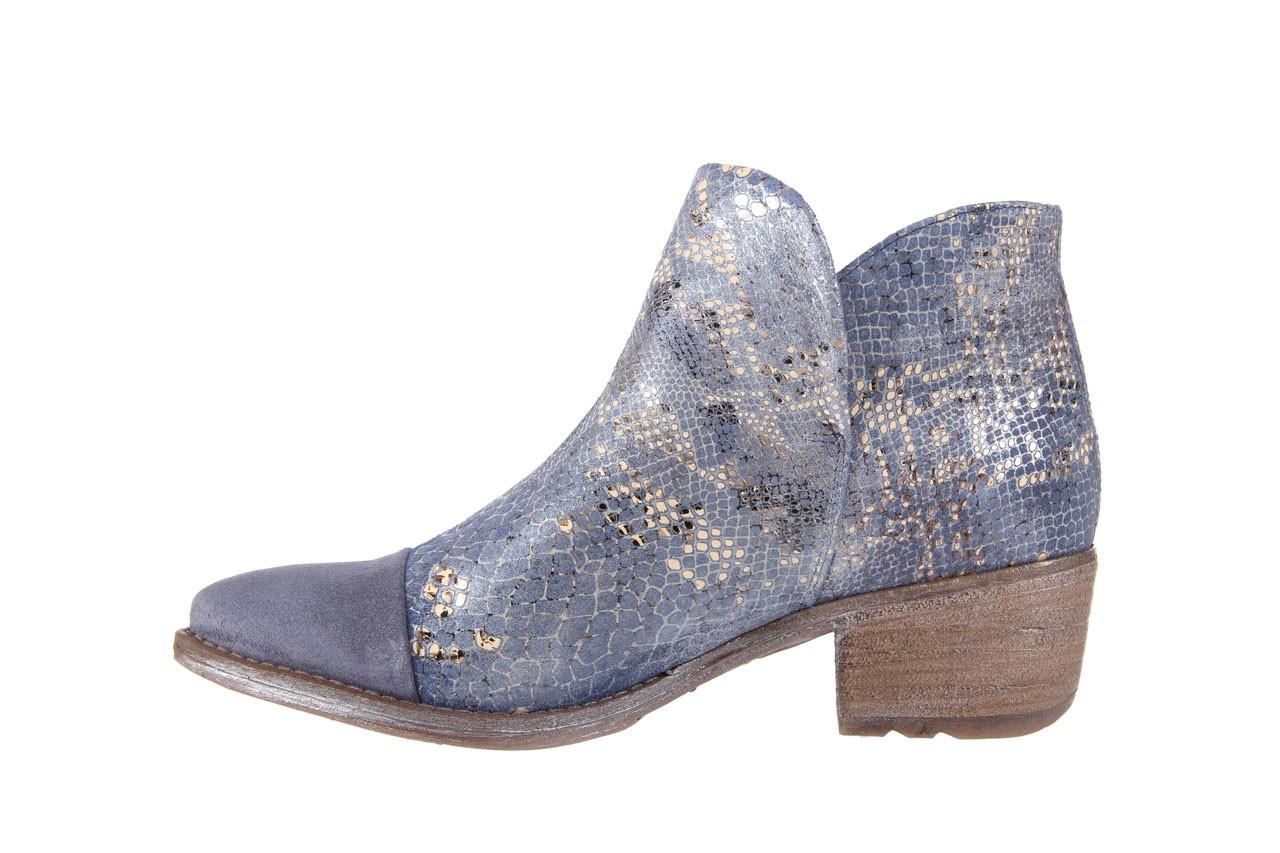 Botki bayla-131 4604 jeans, niebieski, skóra naturalna - bayla - nasze marki 8