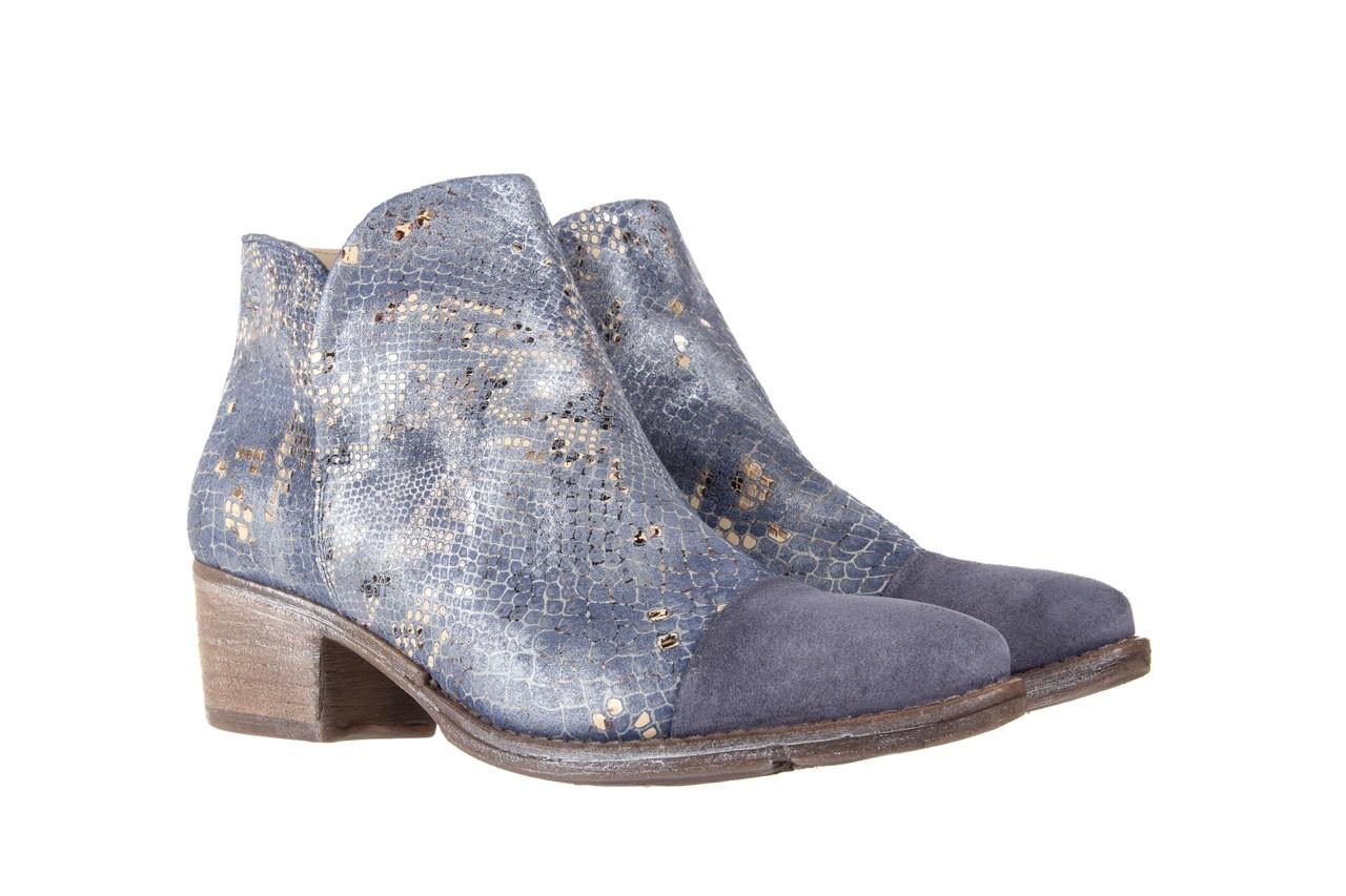 Botki bayla-131 4604 jeans, niebieski, skóra naturalna - bayla - nasze marki 7