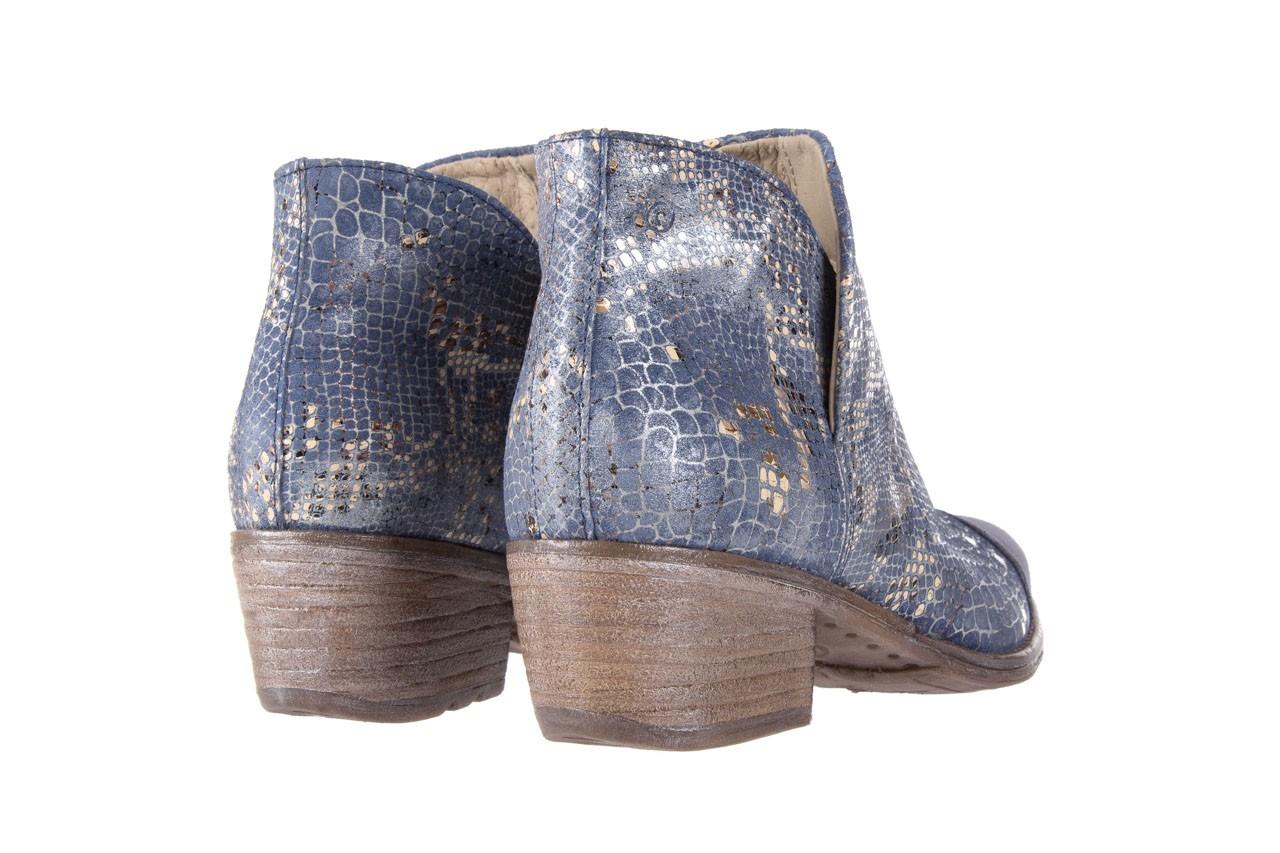 Botki bayla-131 4604 jeans, niebieski, skóra naturalna - bayla - nasze marki 9