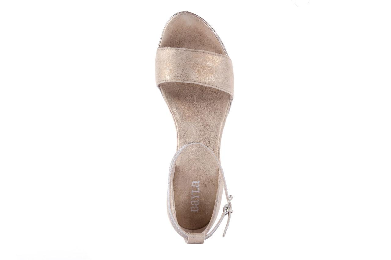 Sandały bayla-131 4813 gold , beż, skóra naturalna - bayla - nasze marki 10