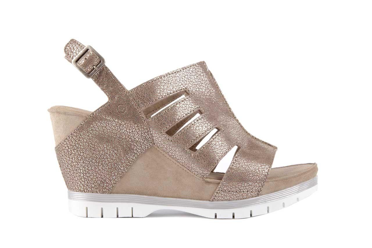 Sandały bayla-131 4905 sand, beż, skóra naturalna - na platformie - sandały - buty damskie - kobieta 6
