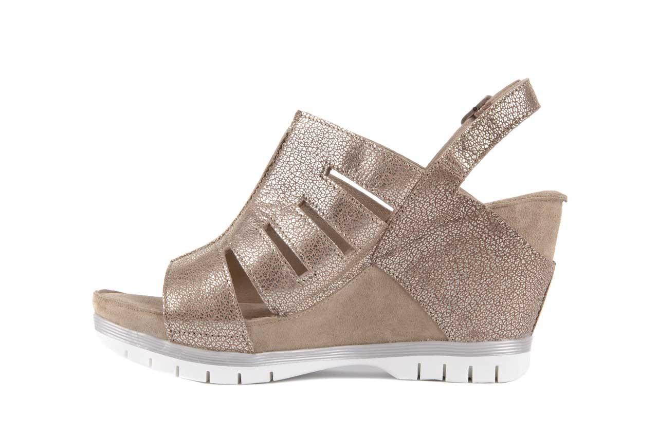 Sandały bayla-131 4905 sand, beż, skóra naturalna - na platformie - sandały - buty damskie - kobieta 8