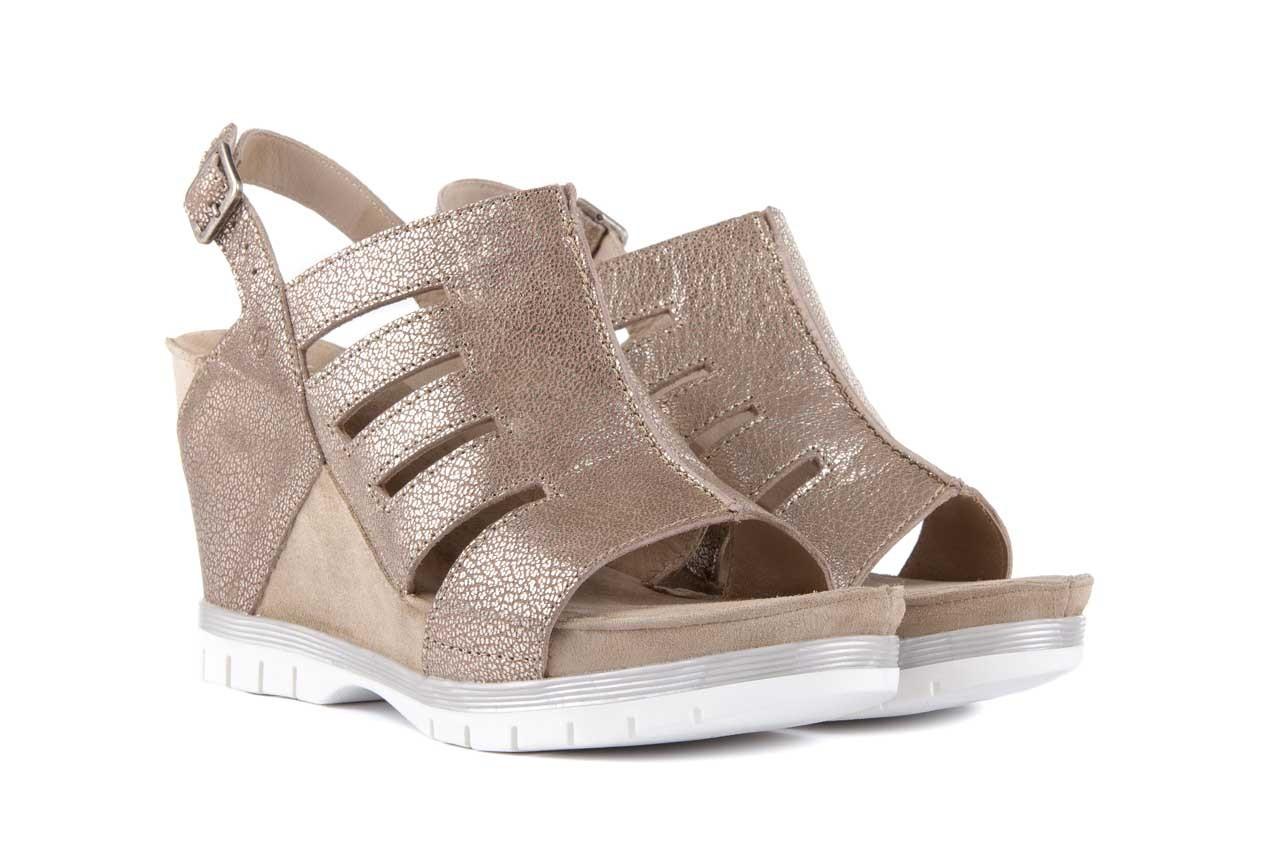 Sandały bayla-131 4905 sand, beż, skóra naturalna - na platformie - sandały - buty damskie - kobieta 7