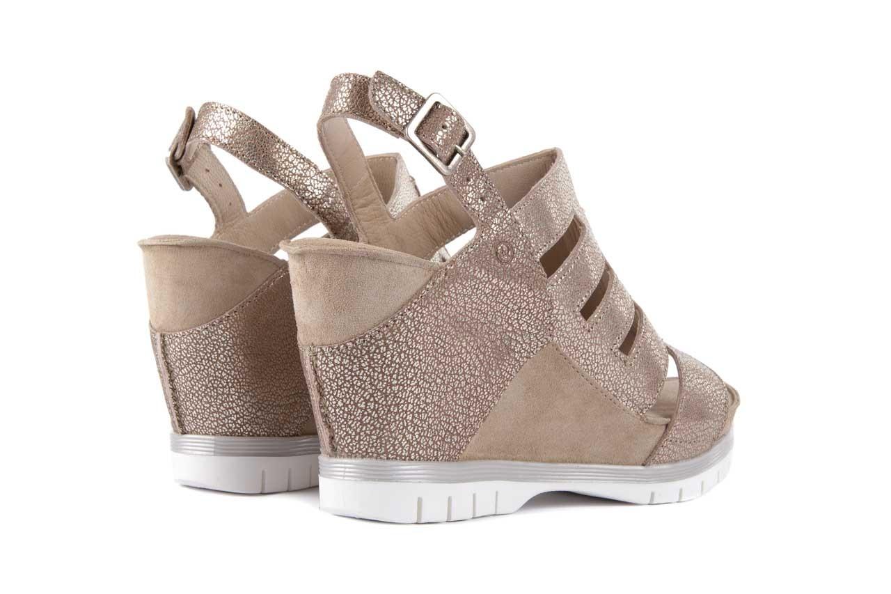 Sandały bayla-131 4905 sand, beż, skóra naturalna - na platformie - sandały - buty damskie - kobieta 9