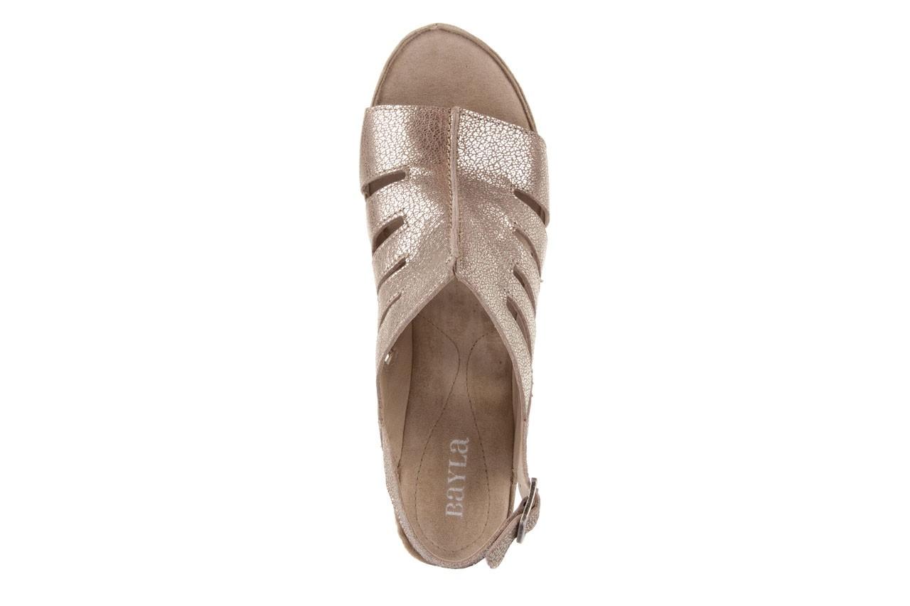 Sandały bayla-131 4905 sand, beż, skóra naturalna - na platformie - sandały - buty damskie - kobieta 10