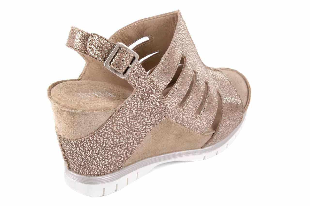 Sandały bayla-131 4905 sand, beż, skóra naturalna - na platformie - sandały - buty damskie - kobieta 11