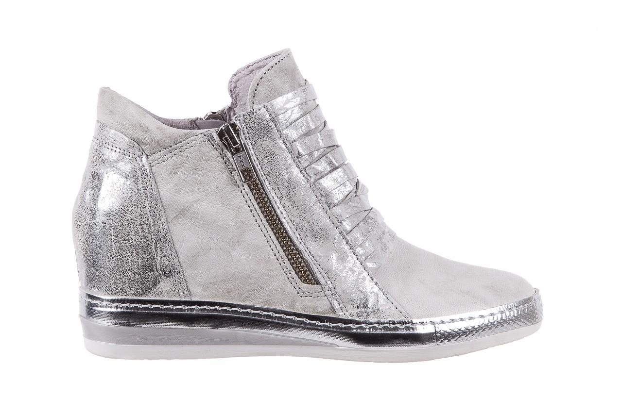 Sneakersy bayla-131 7107 zinco, srebrny, skóra naturalna  - bayla - nasze marki 6