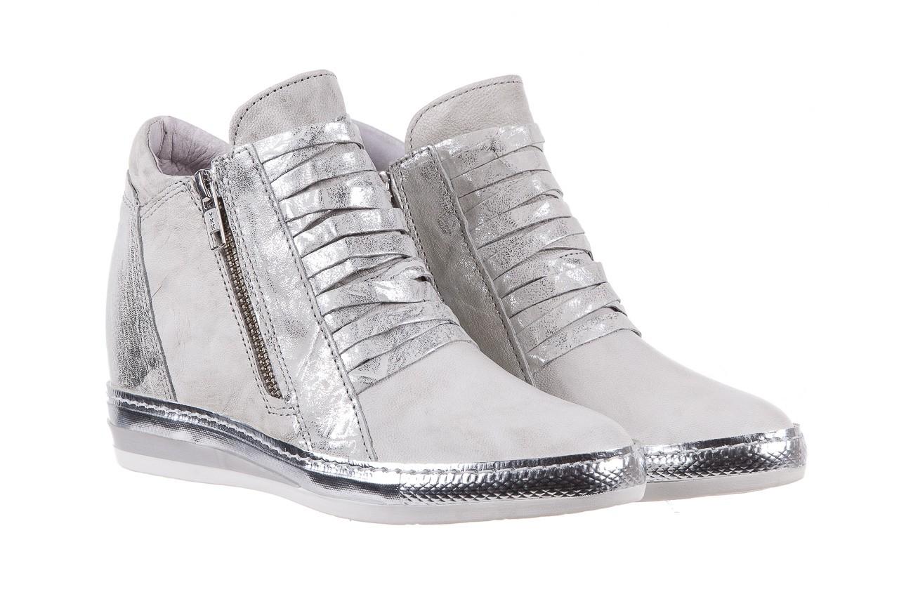 Sneakersy bayla-131 7107 zinco, srebrny, skóra naturalna  - bayla - nasze marki 7