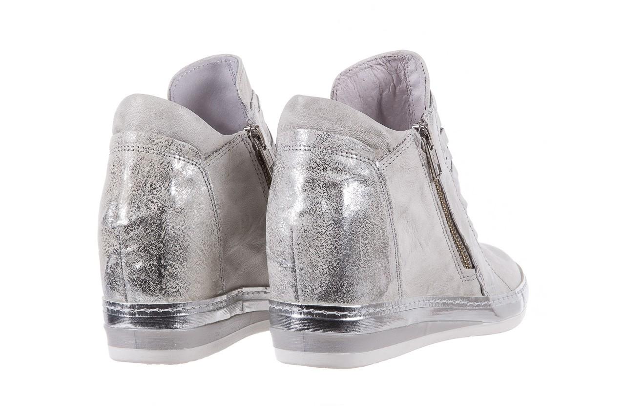 Sneakersy bayla-131 7107 zinco, srebrny, skóra naturalna  - bayla - nasze marki 9