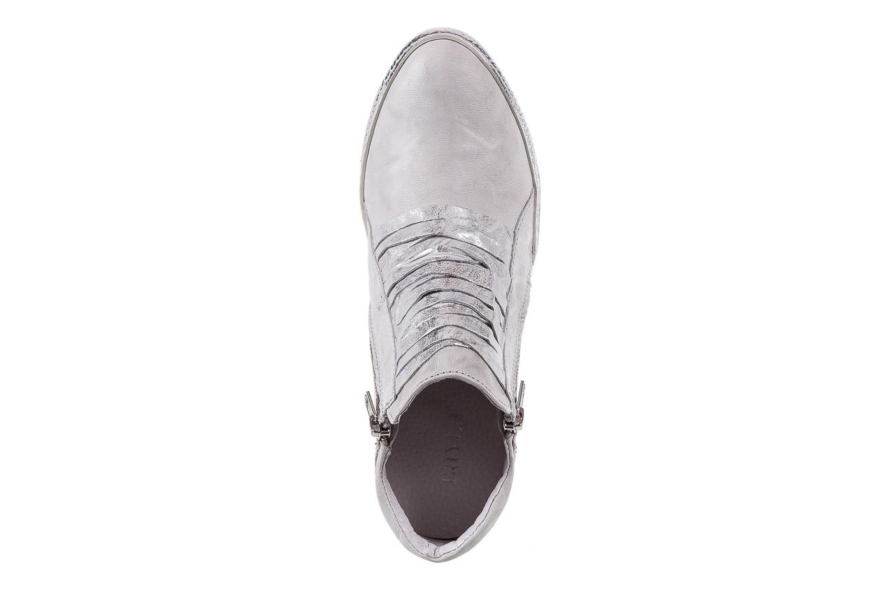 Sneakersy bayla-131 7107 zinco, srebrny, skóra naturalna  - bayla - nasze marki 10