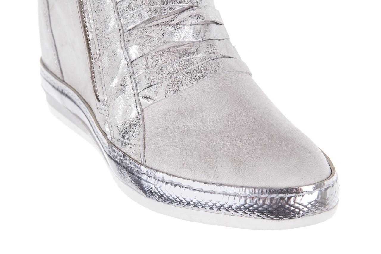 Sneakersy bayla-131 7107 zinco, srebrny, skóra naturalna  - bayla - nasze marki 11