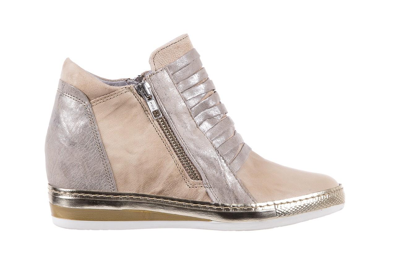 Sneakersy bayla-131 7107 deserto, beż/szary, skóra naturalna  - bayla - nasze marki 7