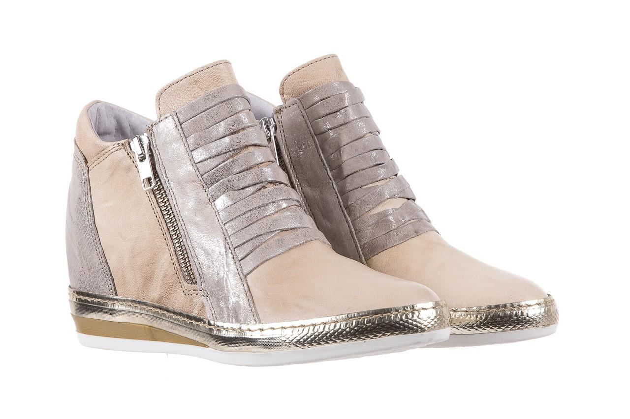 Sneakersy bayla-131 7107 deserto, beż/szary, skóra naturalna  - bayla - nasze marki 8
