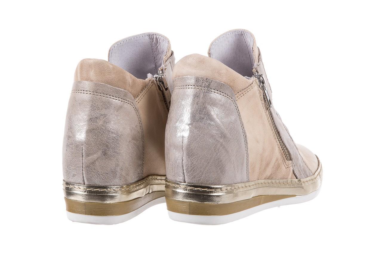 Sneakersy bayla-131 7107 deserto, beż/szary, skóra naturalna  - bayla - nasze marki 10