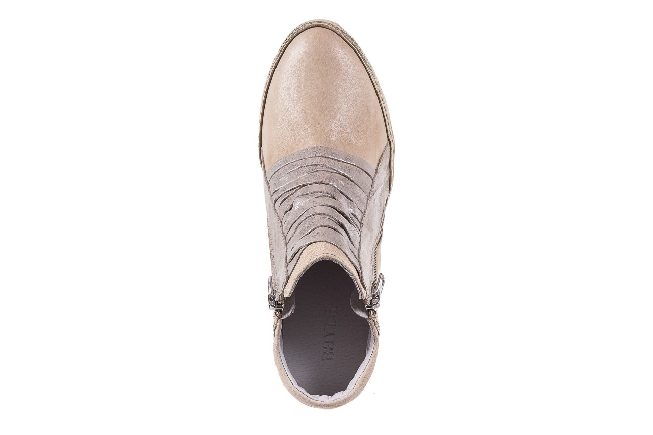 Sneakersy bayla-131 7107 deserto, beż/szary, skóra naturalna  - bayla - nasze marki 11