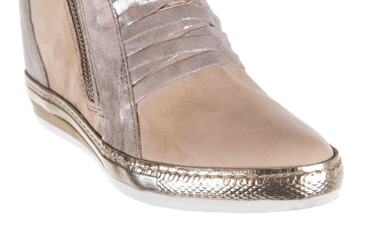 Sneakersy bayla-131 7107 deserto, beż/szary, skóra naturalna  - bayla - nasze marki 12