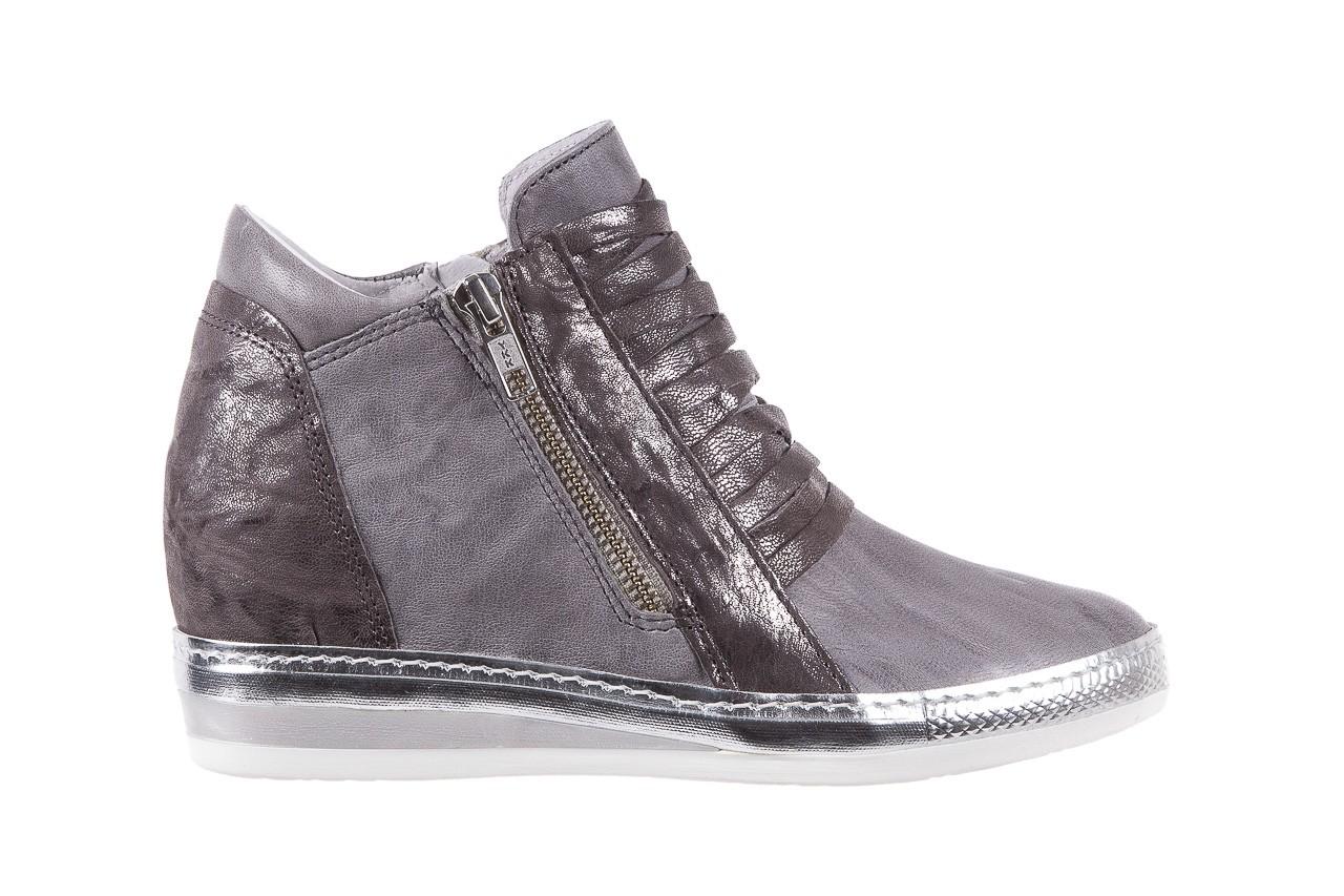 Sneakersy bayla-131 7107 grigio, szary, skóra naturalna  - bayla - nasze marki 6