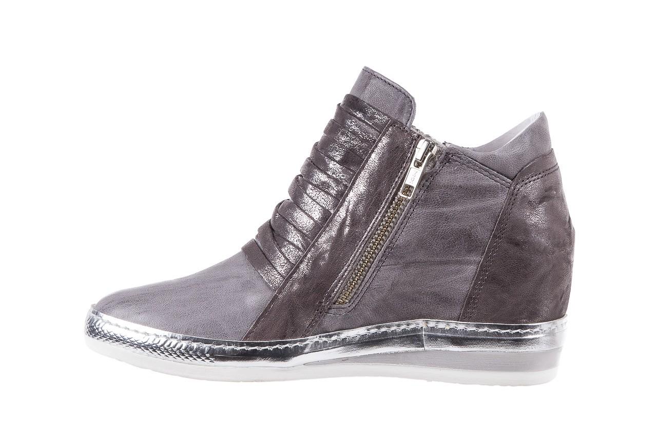 Sneakersy bayla-131 7107 grigio, szary, skóra naturalna  - bayla - nasze marki 8