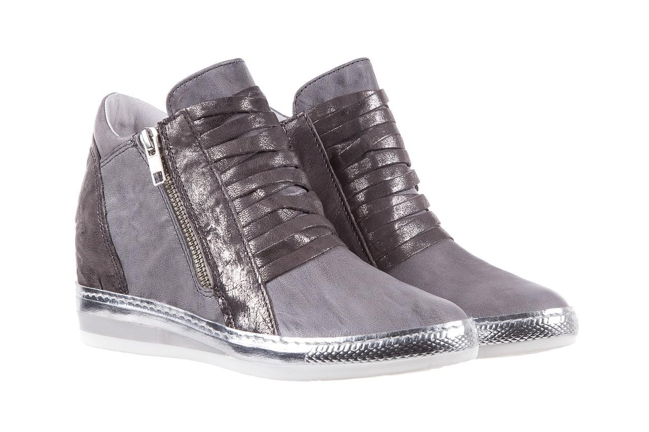 Sneakersy bayla-131 7107 grigio, szary, skóra naturalna  - bayla - nasze marki 7