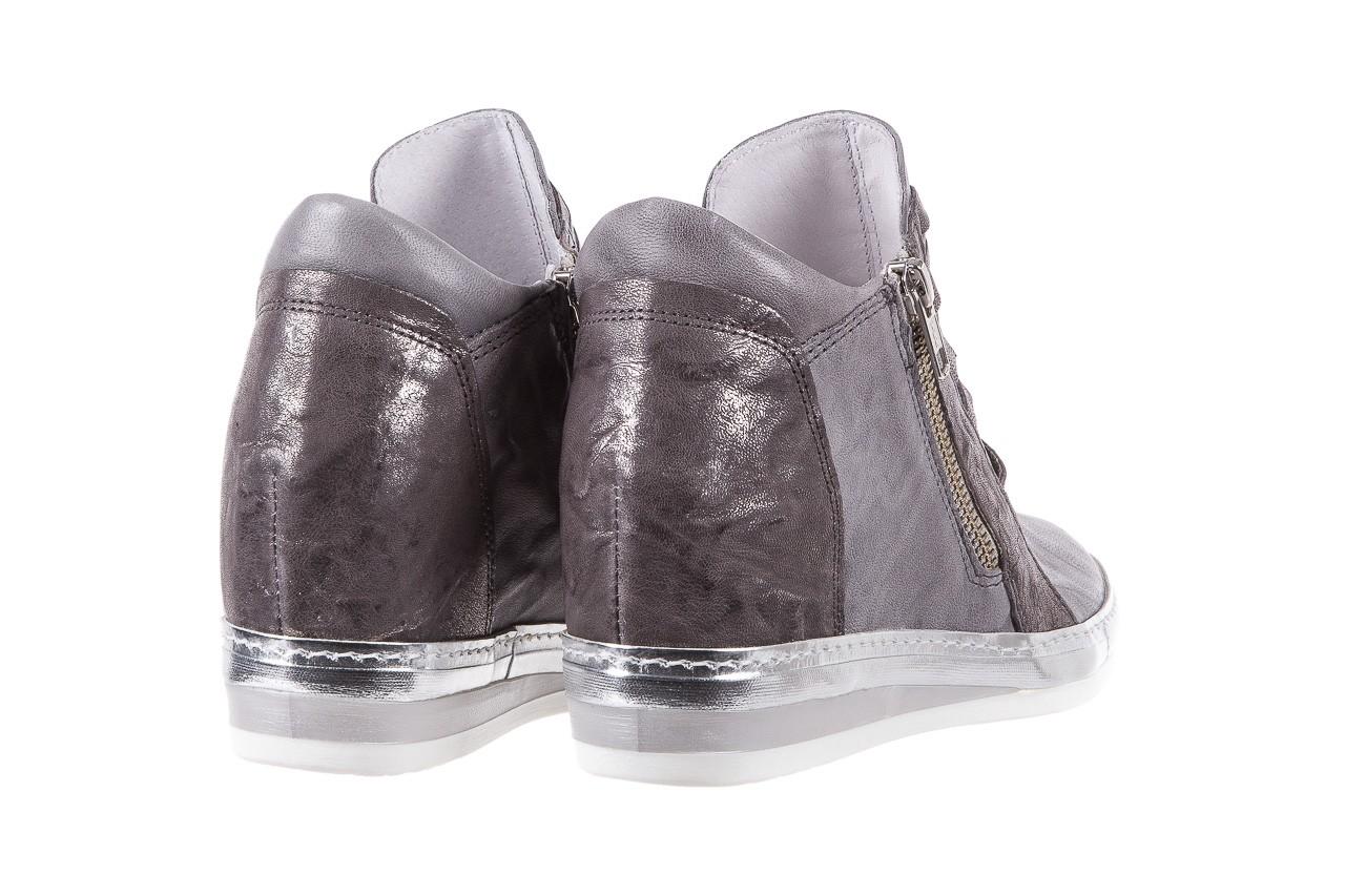 Sneakersy bayla-131 7107 grigio, szary, skóra naturalna  - bayla - nasze marki 9