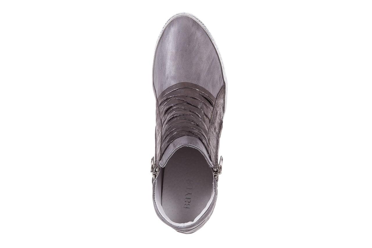 Sneakersy bayla-131 7107 grigio, szary, skóra naturalna  - bayla - nasze marki 10