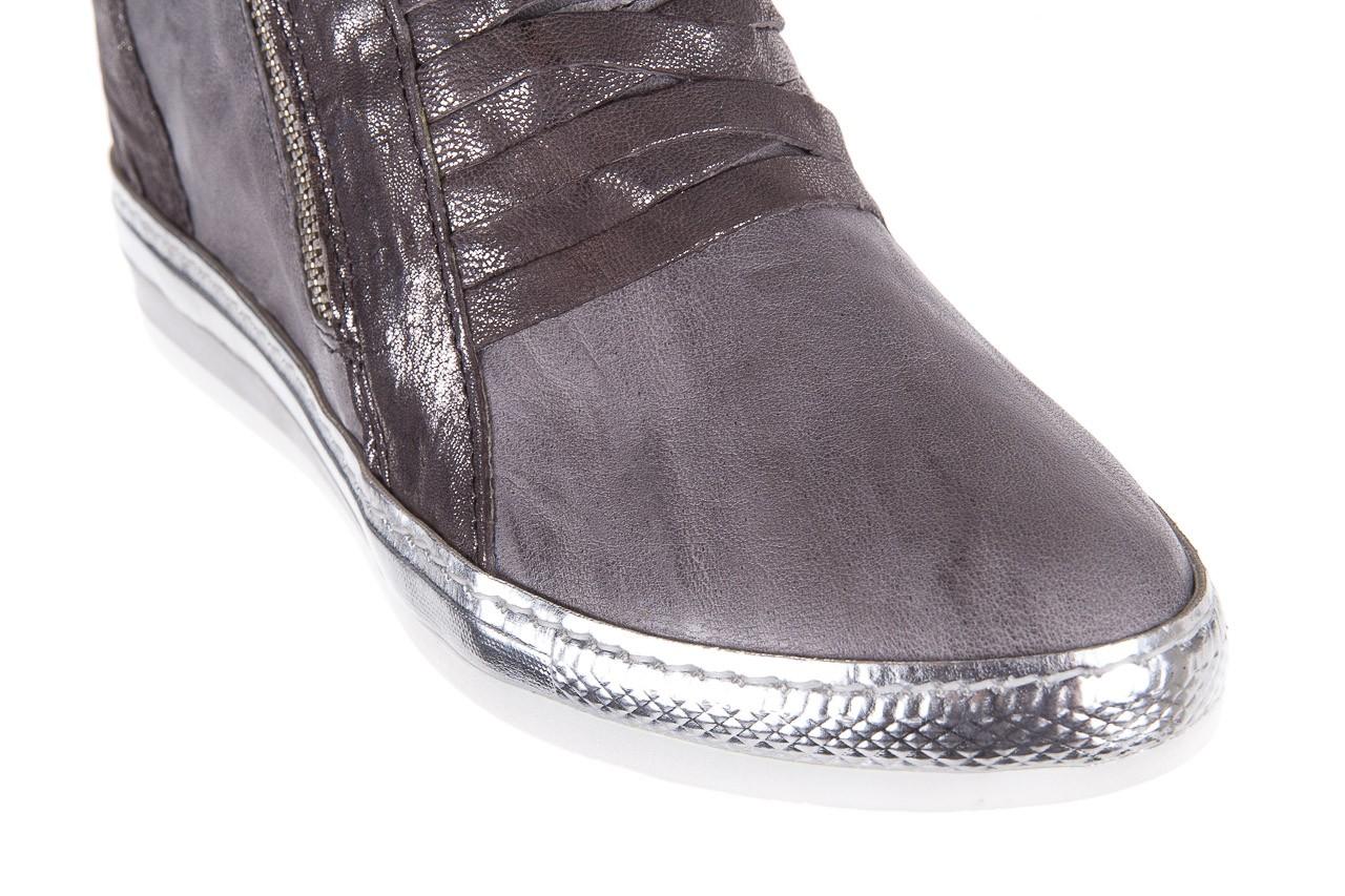 Sneakersy bayla-131 7107 grigio, szary, skóra naturalna  - bayla - nasze marki 11