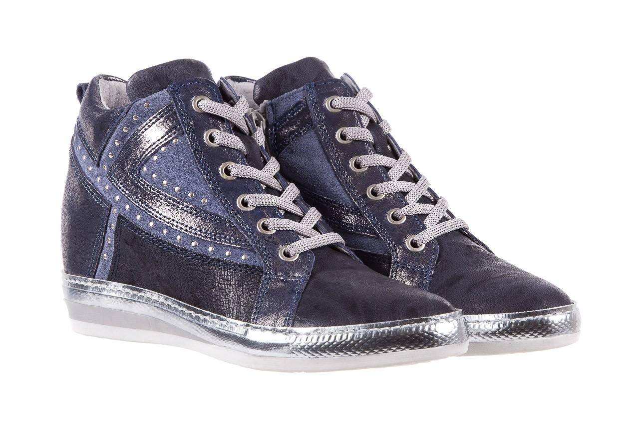Sneakersy bayla-131 7113 oceano, granat, skóra naturalna  - bayla - nasze marki 8