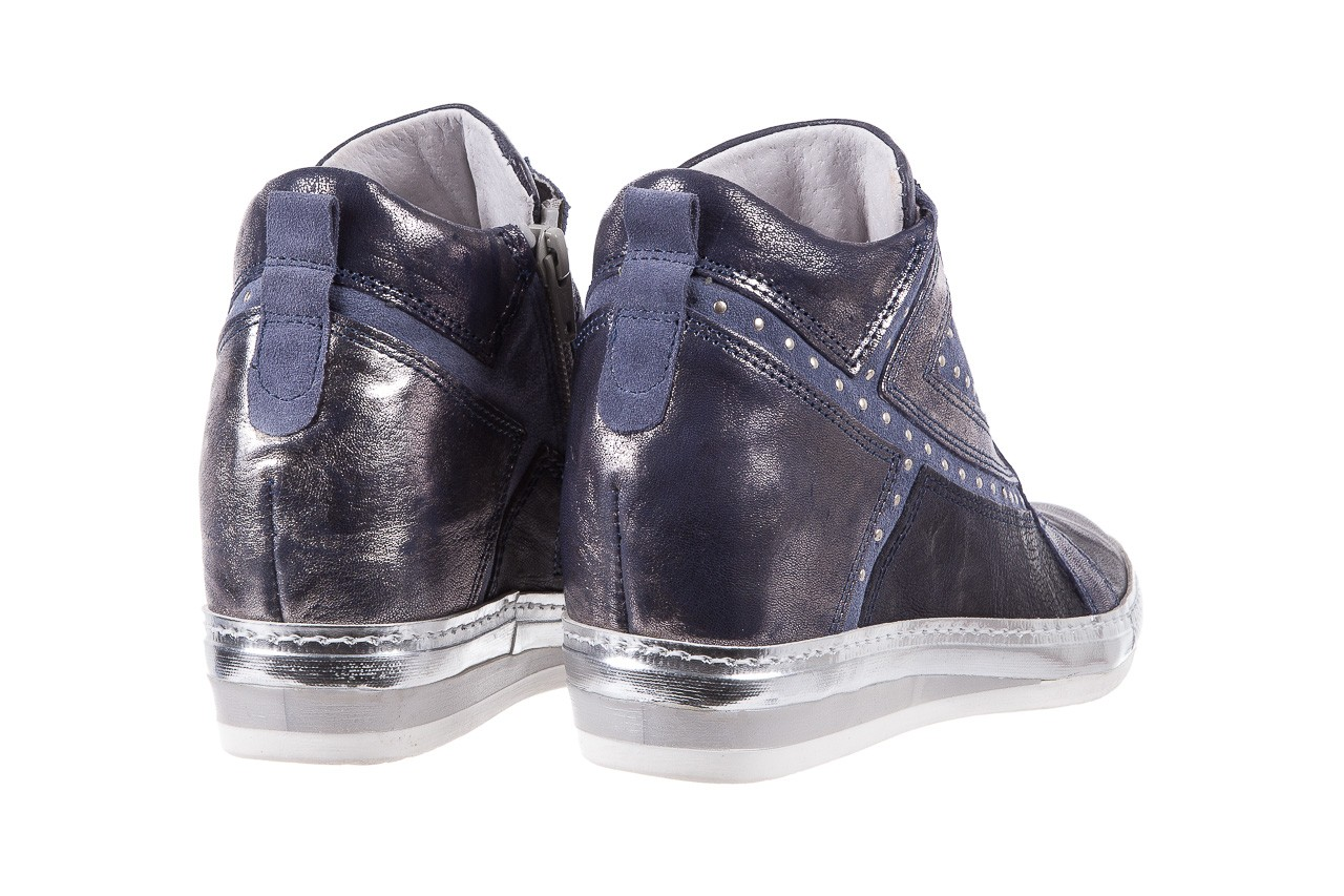 Sneakersy bayla-131 7113 oceano, granat, skóra naturalna  - bayla - nasze marki 10