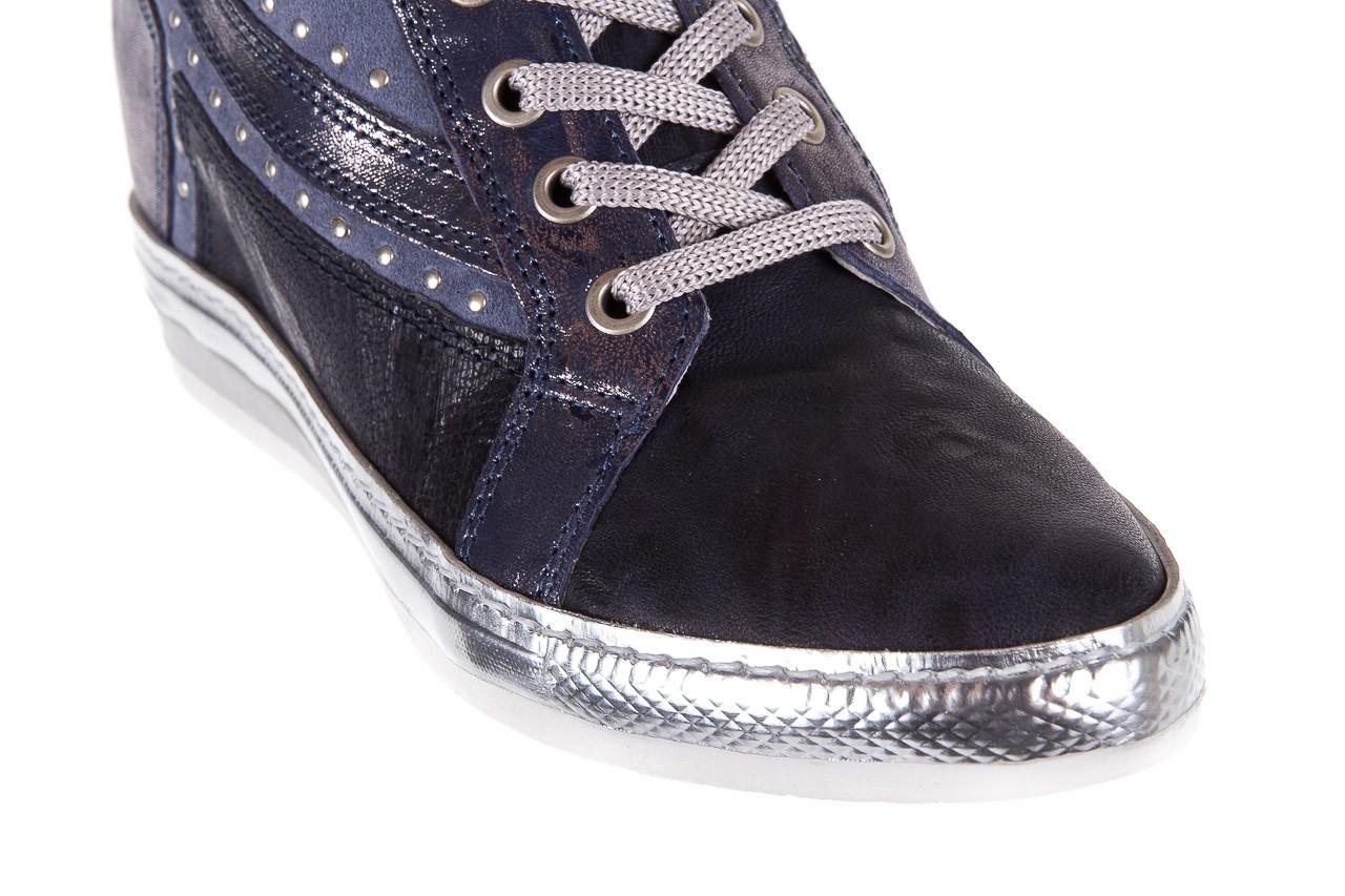 Sneakersy bayla-131 7113 oceano, granat, skóra naturalna  - bayla - nasze marki 12