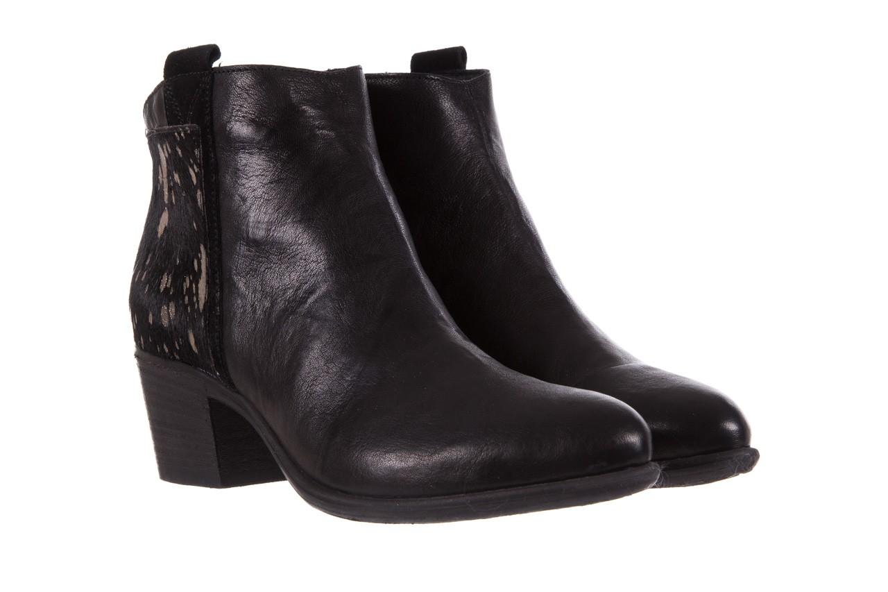 Botki bayla-131 7705 nero, czarny, skóra naturalna  - worker boots - trendy - kobieta 9