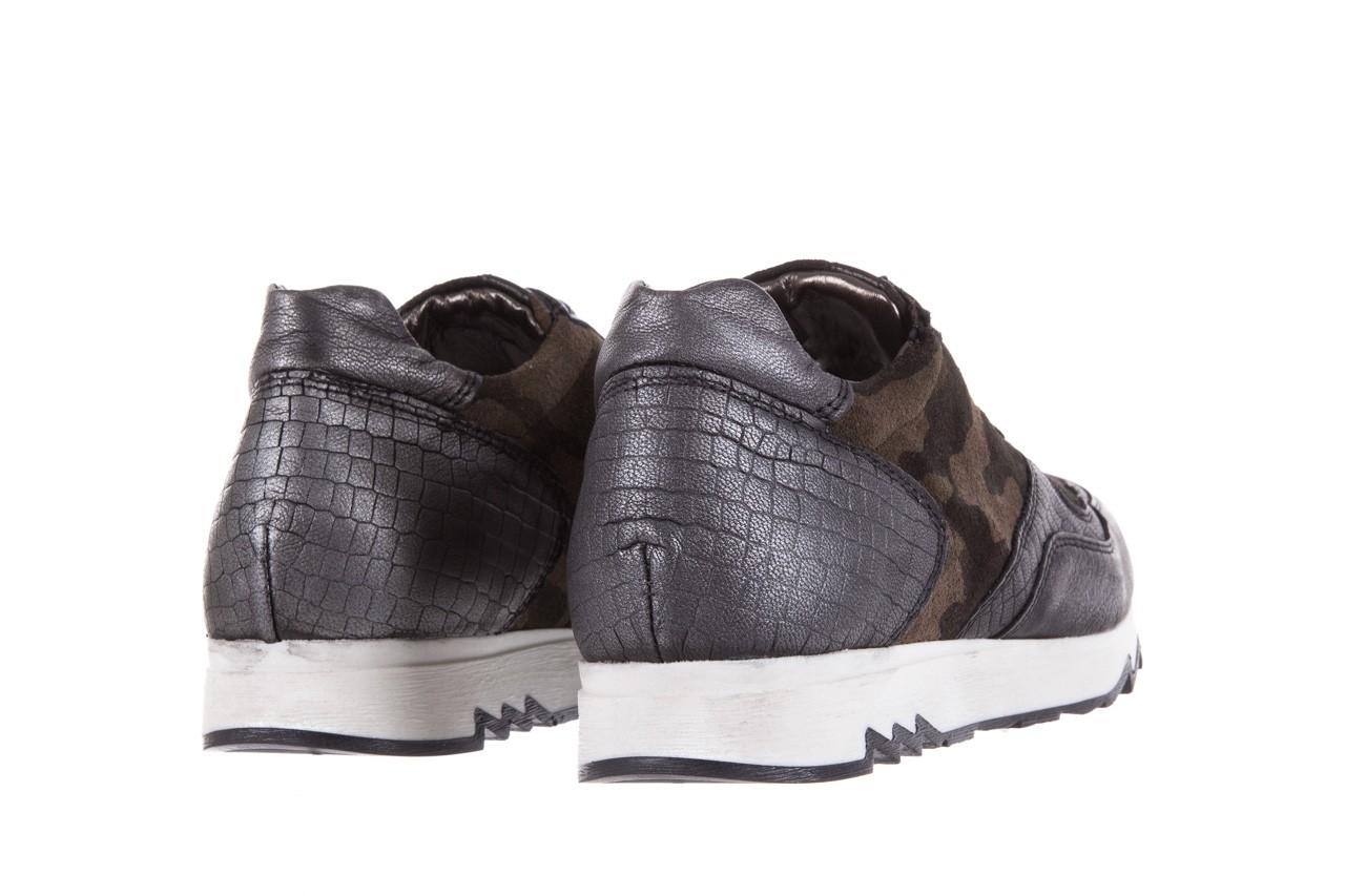 Sneakersy bayla-131 8401 grey, skóra naturalna  - obuwie sportowe - dla niej - dodatkowe -10% 10