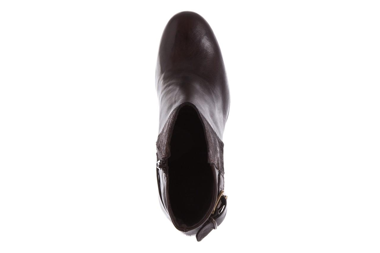 Botki bayla-131 8806 t.moro, brąz/ złoto, skóra naturalna  - kowbojki / boho - botki - buty damskie - kobieta 12