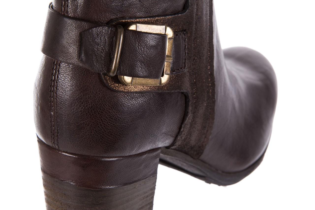 Botki bayla-131 8806 t.moro, brąz/ złoto, skóra naturalna  - kowbojki / boho - botki - buty damskie - kobieta 13