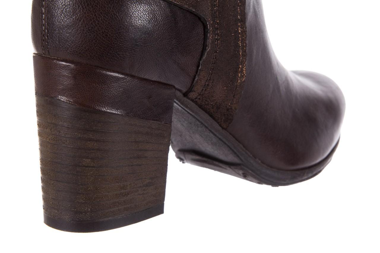 Botki bayla-131 8806 t.moro, brąz/ złoto, skóra naturalna  - kowbojki / boho - botki - buty damskie - kobieta 14