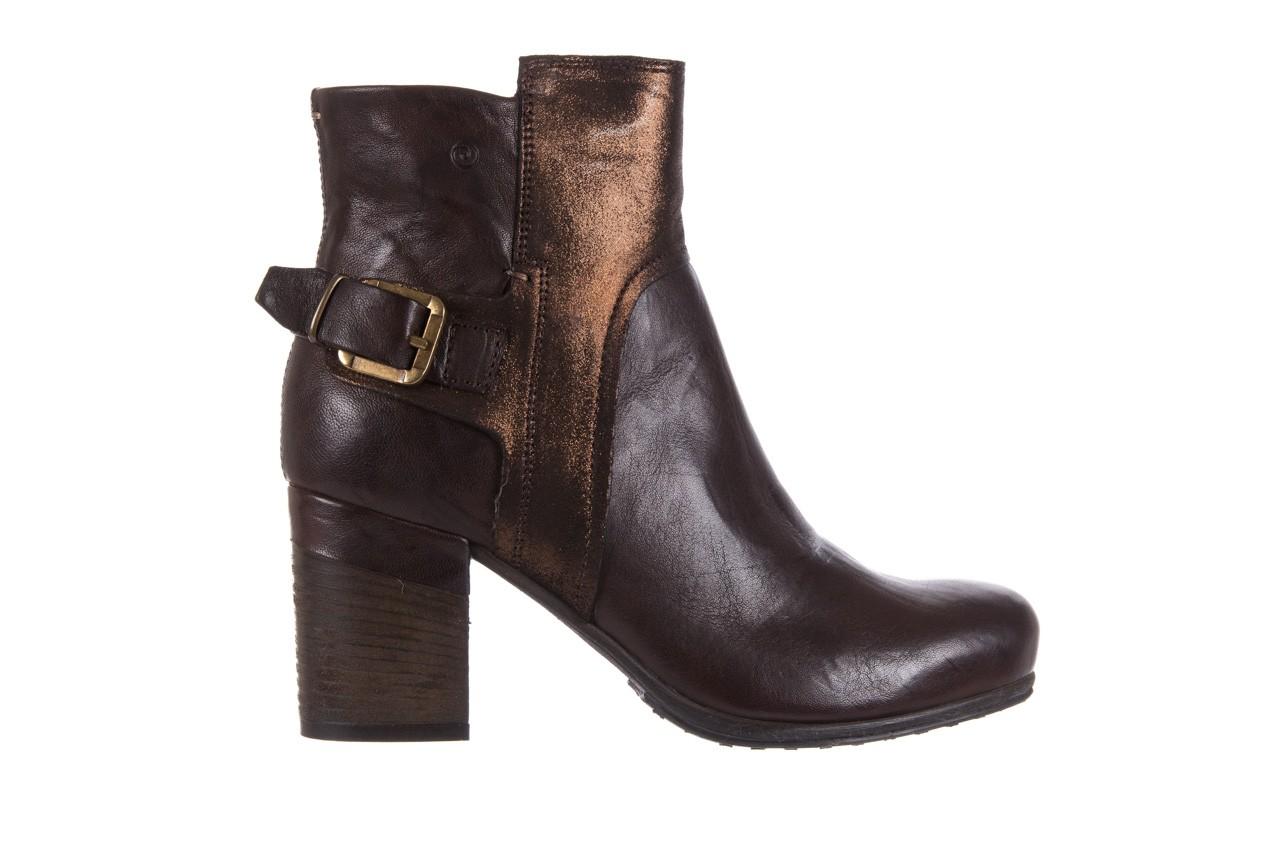 Botki bayla-131 8806 t.moro, brąz/ złoto, skóra naturalna  - kowbojki / boho - botki - buty damskie - kobieta 8