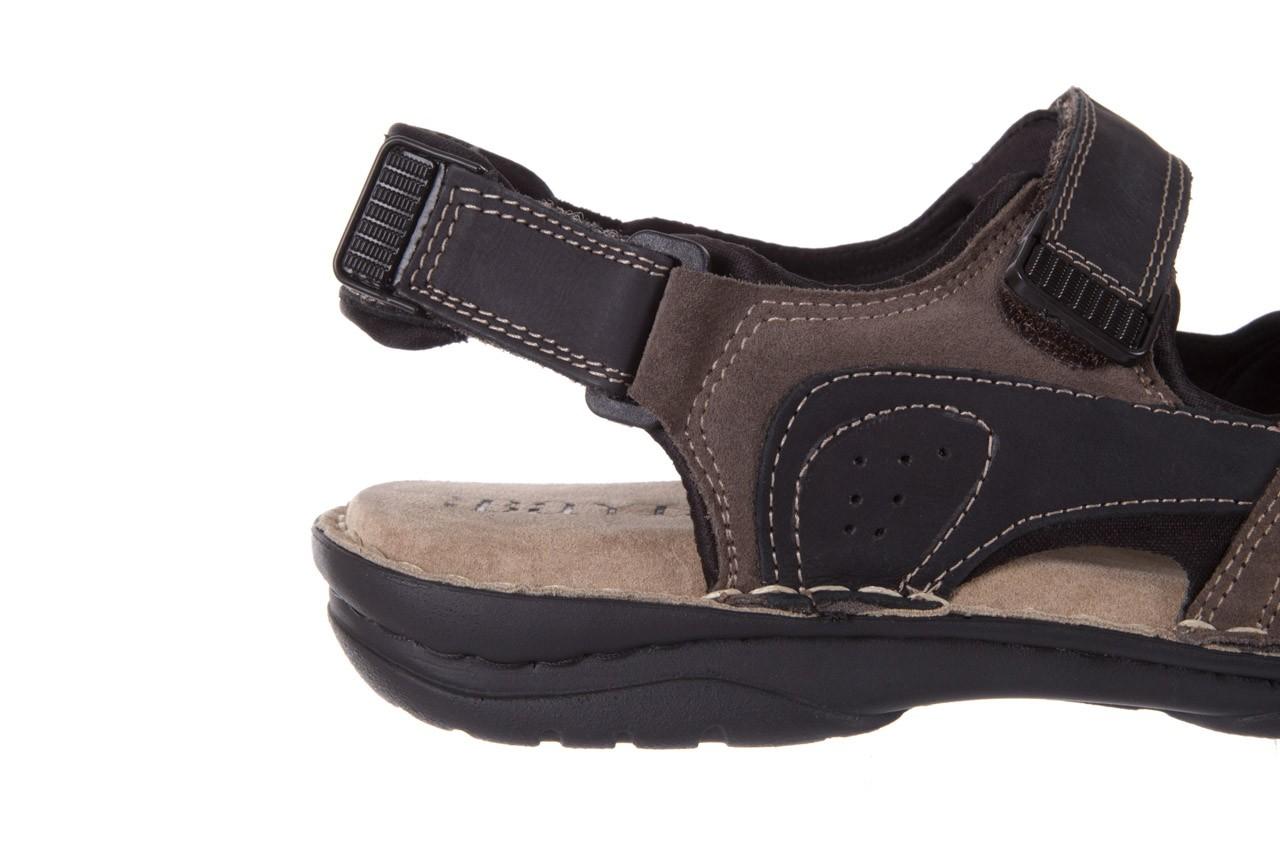 Sandały bayla-133 9520 nabuc nero, brąz, skóra naturalna 11