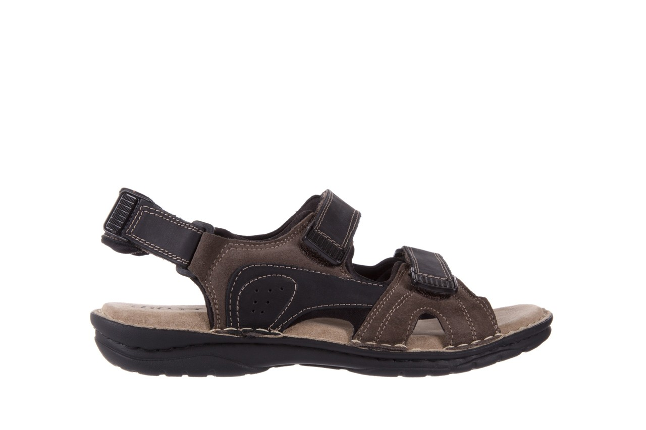 Sandały bayla-133 9520 nabuc nero, brąz, skóra naturalna 6
