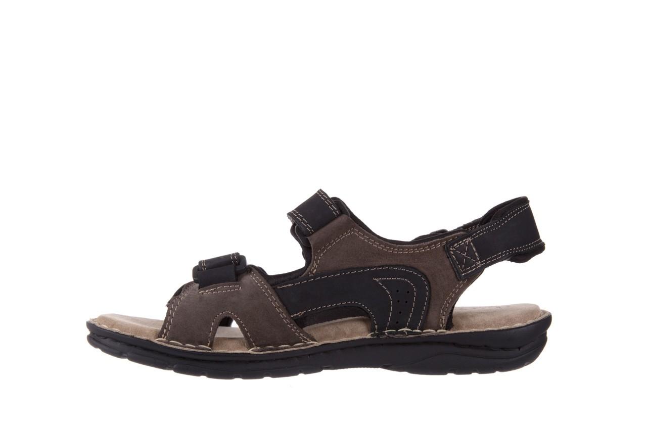 Sandały bayla-133 9520 nabuc nero, brąz, skóra naturalna 8