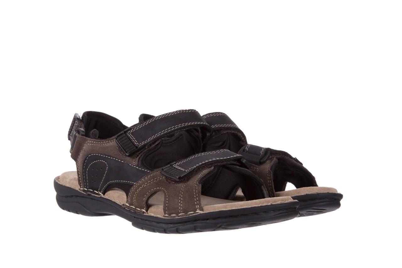 Sandały bayla-133 9520 nabuc nero, brąz, skóra naturalna 7