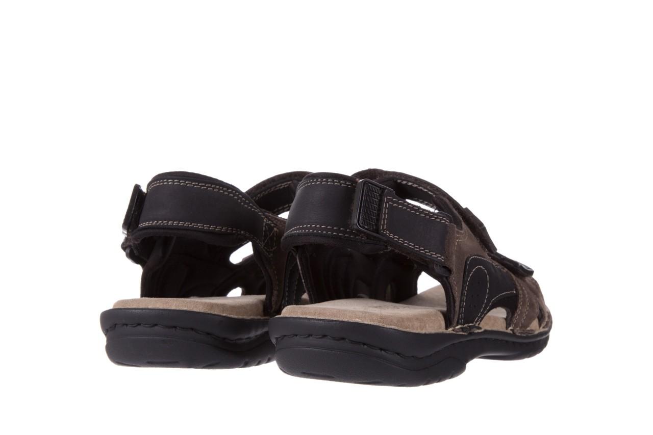 Sandały bayla-133 9520 nabuc nero, brąz, skóra naturalna 9