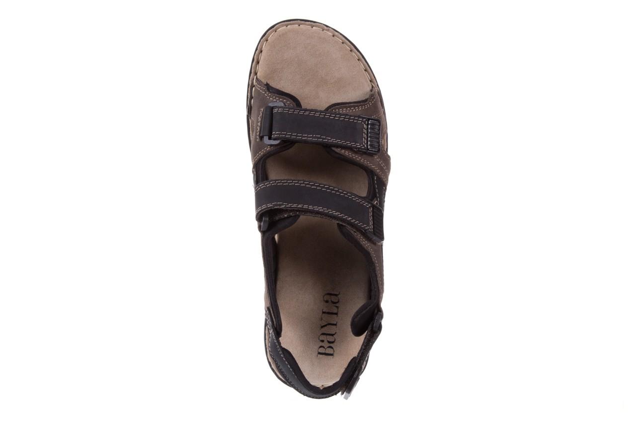 Sandały bayla-133 9520 nabuc nero, brąz, skóra naturalna 10