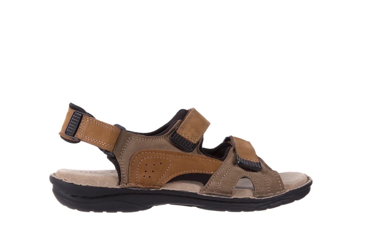 Sandały bayla-133 9520 nabuc nicotina, brąz, skóra naturalna 6