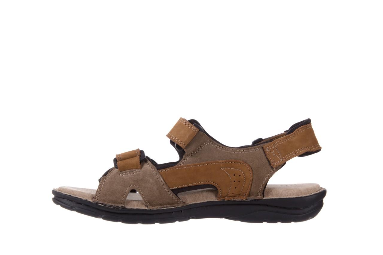 Sandały bayla-133 9520 nabuc nicotina, brąz, skóra naturalna 8