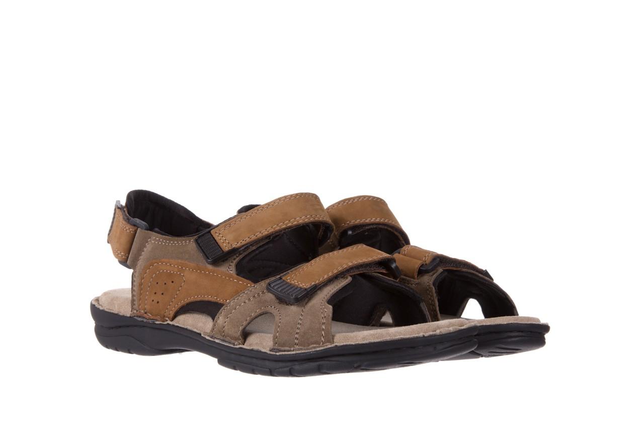 Sandały bayla-133 9520 nabuc nicotina, brąz, skóra naturalna 7